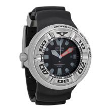Citizen BJ8050-08E Mens Black Dial Analog Watch with Rubber Strap