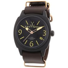 Men's Brown Toywatch Icon Leather Strap Watch IC03BR