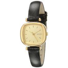 Komono KOM-W1202 Womens Gold Dial Analog Quartz Watch with Leather Strap