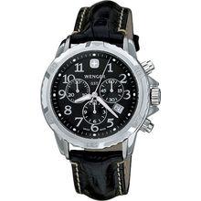 Men's Black Wenger GST Chronograph Swiss Watch 78255