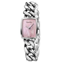 Calvin Klein K5D2M12E Womens Mother of Pear Dial Stainless Steel Strap Watch