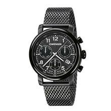Wenger 01.1043.108 Mens Black Dial Analog Quartz Watch