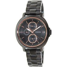 Fossil ES3451 Womens Black Dial Analog Quartz Watch with Stainless Steel Strap