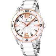 Festina F16396/1 40mm Silver Steel Bracelet & Case Mineral Women's Watch