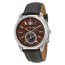 Michael Kors MK8415 Mens Brown Dial Analog Quartz Watch with Leather Strap