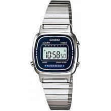 Casio LA670WA-2 Mens Blue Dial with Stainless Steel Strap Digital Quartz Watch