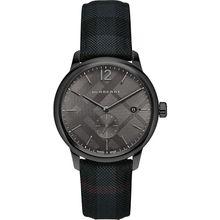 Burberry BU10010 Mens Black Dial Quartz Watch with Nylon Strap