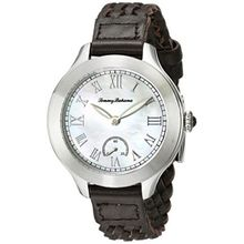 Tommy Bahama 10018334 Womens Mop Dial Analog Quartz Watch with Leather Strap