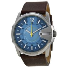 Diesel Not So Basic DZ1399 Mens Blue Dial Analog Quartz Watch with Leather Strap