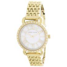 Anne Klein AK/2086MPGB Womens Pearl Dial Gold Tone Metal Bracelet Quartz Watch