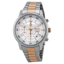 Seiko SNDW86 Mens Silver Dial Analog Quartz Watch with Stainless Steel Strap