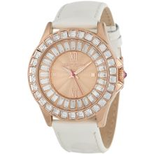 Betsey Johnson BJ00004-07 Womens Rose Gold Dial Analog Quartz Watch