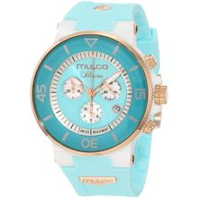 Mulco MW3-11009-053 Mens Teal Dial Quartz Watch with Silicone Strap
