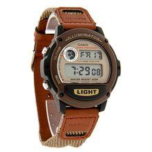 Casio W89HB-5AV Mens Brown Dial Digital Quartz Watch with Fabric Strap