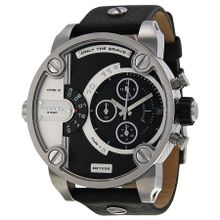 Diesel DZ7256 Mens Black Dial Analog Quartz Watch with Leather Strap