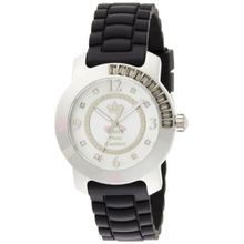 Juicy Couture 1900546 Womens White Dial Quartz Watch with Rubber Strap