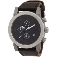 Nixon A315562-00 Mens Brown Dial Quartz Watch with Leather Strap
