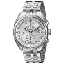 Bulova 63C120 Mens Silver Dial Analog Mechanical Watch