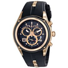 Mulco MW1-29902-025 Mens Black Dial Watch with Silicone Strap