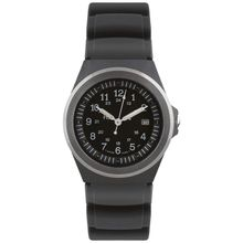 Traser P5900.906.33.11 Mens Black Dial Analog Quartz Watch with Rubber Strap