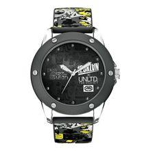 Marc Ecko E09530G1 Mens Black Dial Quartz Watch with Silicone Strap