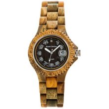 Tense Discovery Compass Wood G4100G Mens Black Dial Analog Watch