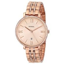 Fossil ES3546 Womens Pink Dial Analog Quartz with Stainless Steel Strap Watch