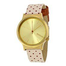 Komono W1837 Womens Gold Dial Analog Quartz Watch with Fabric Strap