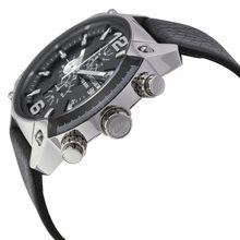 Diesel DZ4341 Mens Black Dial Analog Quartz Watch with Leather Strap
