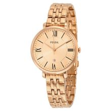Fossil ES3435 Womens Pink Dial Analog Quartz Watch with Stainless Steel Strap