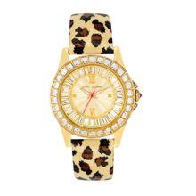 Betsey Johnson BJ00004-02 Womens Gold Dial Analog Quartz Watch