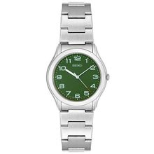 Seiko  SFR533  Mens  Stainless Steel Green Dial Watch