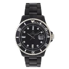 Toy Watch 32101-BK Mens Black Dial Quartz Watch with Plasteramic Strap