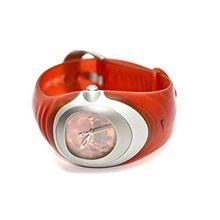 Nike WW0004-601R Womens Orange Dial Quartz Watch with Rubber Strap