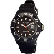 Intimes ITIIT-057SBLK Mens Black Dial Analog Quartz Watch