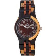 Tense J5200IDM Mens Discovery Yukon Jumbo Wood Inlaid Multicolor Watch