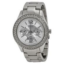 Fossil ES3588 Stella Womens Silver Dial Analog Quartz Stainless Steel Watch