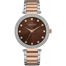 Caravelle 45L152 Womens Brown Dial Analog Quartz Watch