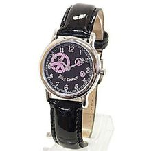 Juicy Couture 1900589 Womens Black Dial Quartz Watch with Leather Strap