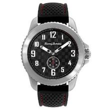 Tommy Bahama 10018307 Mens Black Dial Analog Quartz Watch with Nylon Strap