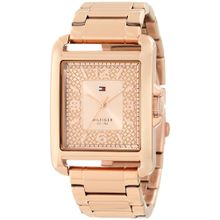 Tommy Hilfiger 1781196 Womens Gold Dial Analog Quartz Watch with Rose Gold Strap
