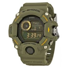 Casio GW9400-3 Mens Green Dial Digital Quartz Watch with Resin Strap