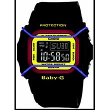 Black Casio Baby-G Digital World Time Sports Watch BGD501-1B