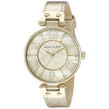 Anne Klein AK/1012GMGD Womens Mother-Of-Pearl Calf Skin Quartz Watch