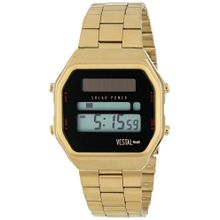 Men's Gold Vestal Syncratic Solar Power Digital Watch SYNDM03