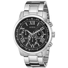 Men's Guess Classic Chronograph Stainless Steel Watch U0379G1