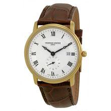 Frederique Constant FC-245M5S5 Mens Silver Dial Analog Quartz Watch