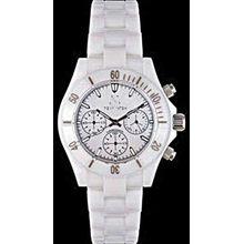 Toy Watch CC02WH Mavi Ceramic White MOP Dial Chronograph Ceramic Case/Bracelet