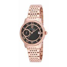 S. Coifman Women's SC0339 Quartz 3 Hand Black Dial  Watch