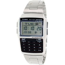 Casio DBC32D-1A Mens Grey Dial Digital Quartz Watch with Stainless Steel Strap